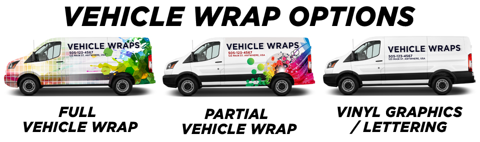 Burbank Vehicle Wraps vehicle wrap options